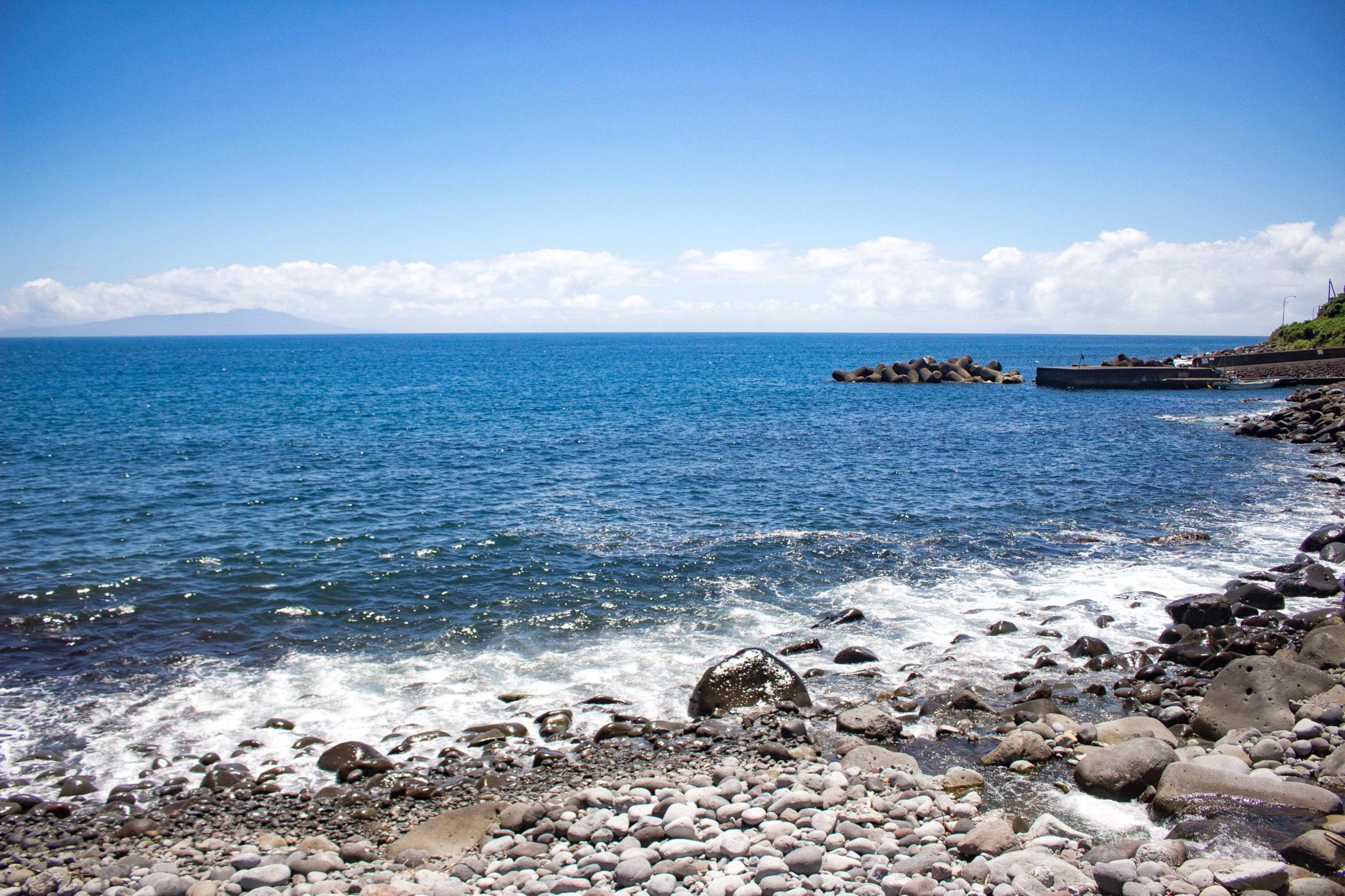 本日の大川海岸のようす